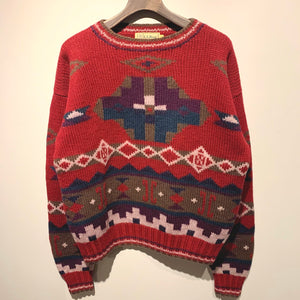 L.L.Bean/Wool Knit Sweater/ size M