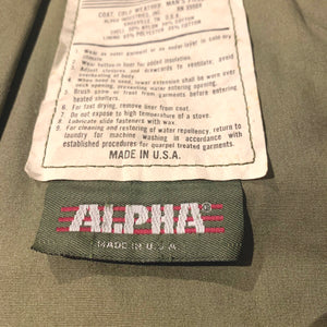 ALPHA/M-65 cold weater field coat/MADE IN USA/8415-01-099-7839/ size M-R