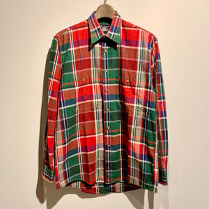 90s/Burberrys/MADE IN USA/madras check L/S shirt/size S