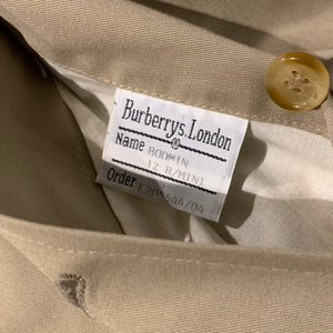 Burberrys/Lining Nova Check Bal Collar Coat/MADE IN ENGLAND/ size 12R MINI