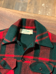 L.L.Bean/60s/check wool jacket/size S