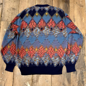 LEGERE by MCM/argyle wool knit sweater/size M/MADE IN ITALY