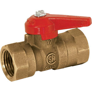 1/2in. Brass Gas Shut-Off Valve - 1/2in. FIP x 1/2in. FIP - Model