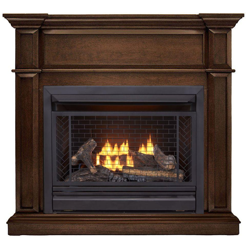 Bluegrass Living B300RTP-3-G, Vent Free Fireplace System, Fireplace: B300RTP and Mantel: PCE300-3-G, Gingerbread
