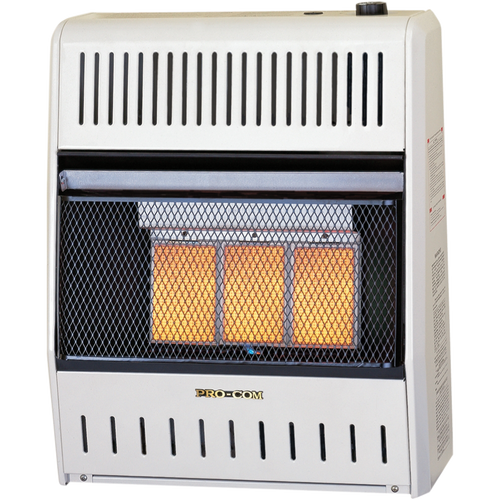ProCom Reconditioned Natural Gas Ventless Infrared Heater - 3 Plaque, 18,000 BTU, Manual Control - Model