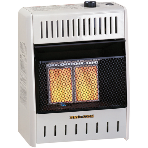 ProCom Reconditioned Natural Gas Ventless Infrared Heater - 10,000 BTU, T-Stat Control - Model