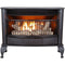 ProCom Ventless Dual Fuel Gas Stove - 25,000 BTU, T-Stat Control, Black Finish - Model# QNSD250T