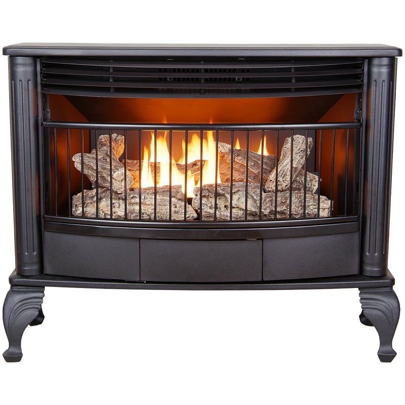 ProCom Ventless Dual Fuel Gas Stove - 25,000 BTU, T-Stat Control, Black Finish - Model