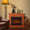 Duluth Forge Full Size Electric Fireplace - Remote Control, Heritage Cherry Finish - Model