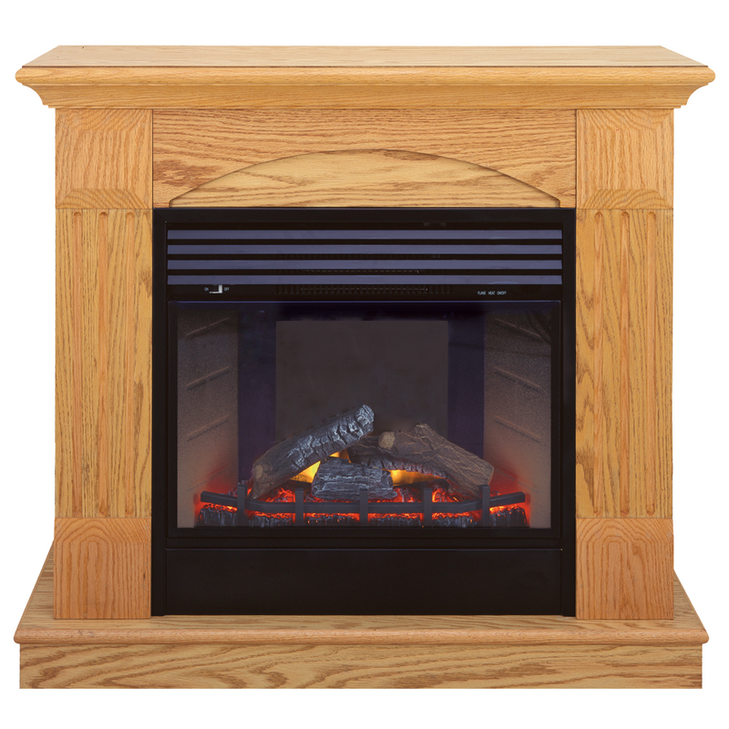 ProCom Deluxe Electric Fireplace With Remote Control - Oak Finish, Model