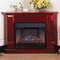 ProCom Deluxe Electric Corner Fireplace With Remote Control - Cherry Finish, Model