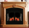 ProCom Full Size Deluxe Electric Fireplace With Remote Control - Oak Finish, Model