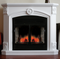 ProCom Full Size Deluxe Electric Fireplace With Remote Control - White Finish, Model# SFE32RE1-W