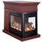 ProCom Full Size Electric Peninsula Fireplace With Remote Control - Coffee Glaze Finish, Model# SPE28RE-CG