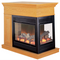 ProCom Full Size Electric Peninsula Fireplace With Remote Control - Oak Finish, Model# SPE28RE-O