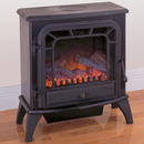 ProCom Electric Stove Fireplace - Black Finish - Model V50HYLD