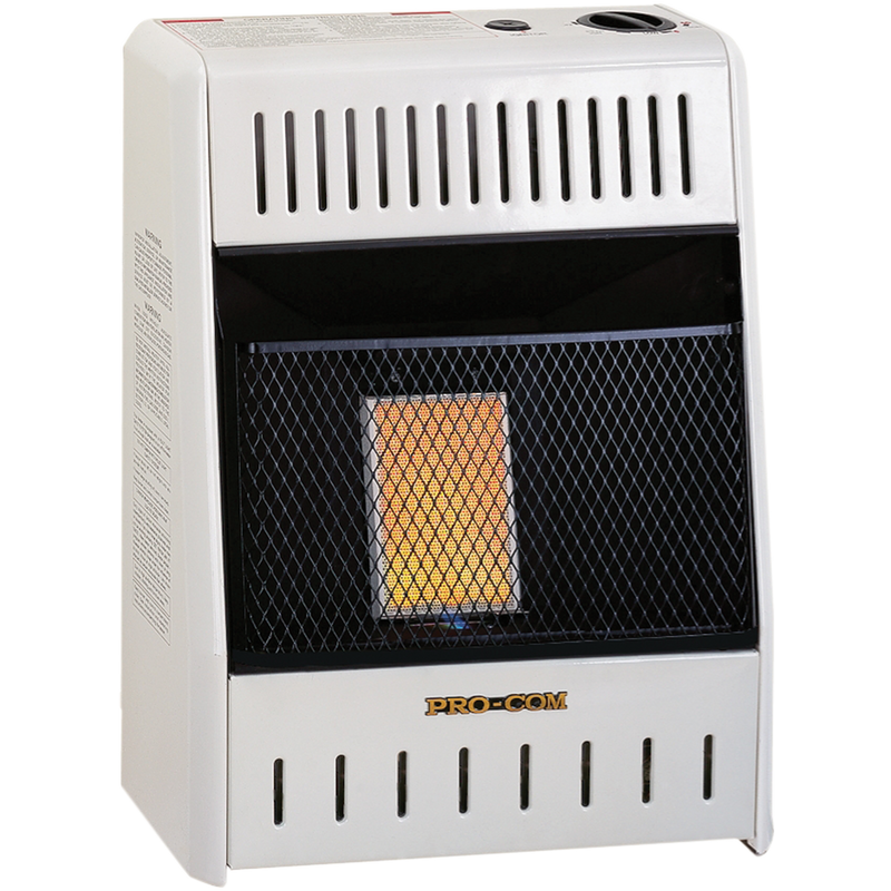 ProCom Reconditioned Liquid Propane Ventless Plaque Heater - 6,000 BTU, Manual Control - Model
