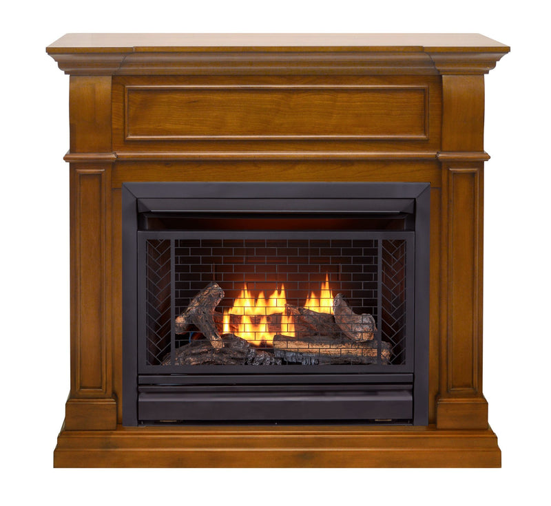 Bluegrass Living B300RTP-4-AS, Vent Free Fireplace System, Fireplace: B300RTP and Mantel: PCE300-4-AS, Apple Spice
