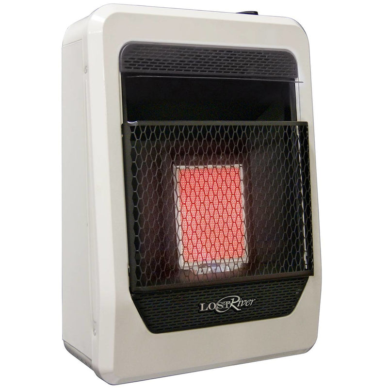 Lost River Natural Gas Ventless Infrared Radiant Plaque Heater - 10,000 BTU, T-Stat Control - Model