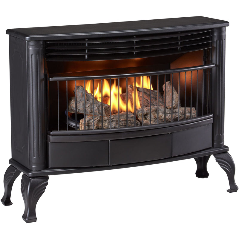 Bluegrass Living Vent Free Natural Gas Stove - 25,000 BTU, Remote Control, Black Finish - Model