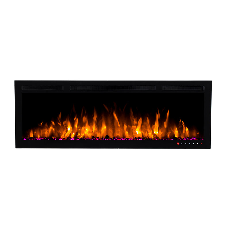 Bluegrass Living Slimline 50 Inch Wall Mount and Recessed Electric Fireplace - Model