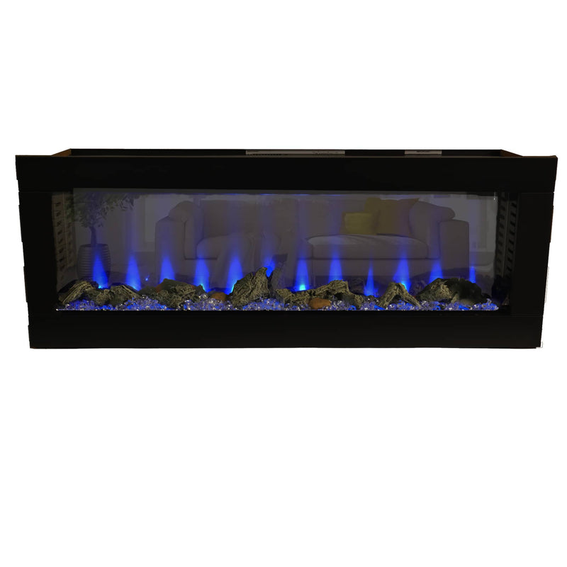 Bluegrass Living 50 Inch See Through Electric Fireplace - Model