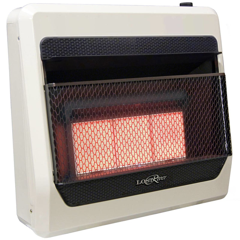 Lost River Reconditioned Liquid Propane Gas Ventless Infrared Radiant Plaque Heater - 28,000 BTU, T-Stat Control - Model