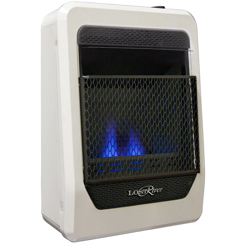 Lost River Natural Gas Ventless Blue Flame Gas Space Heater - 10,000 BTU, T-Stat Control - Model