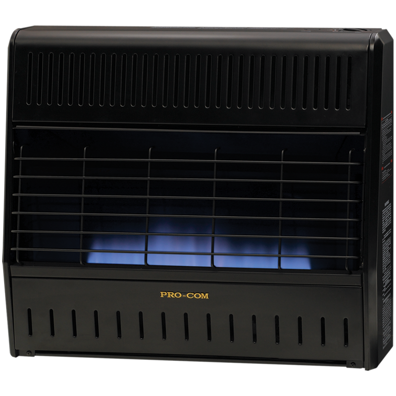 ProCom Reconditioned Dual Fuel Ventless Blue Flame Garage Heater - 30,000 BTU, T-Stat Control - Model