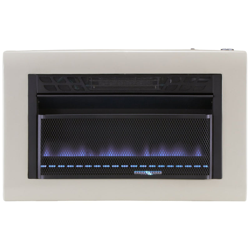Cedar Ridge Hearth Dual Fuel Ventless Blue Flame Gas Space Heater With Blower - 30,000 BTU, T-Stat Control - Model