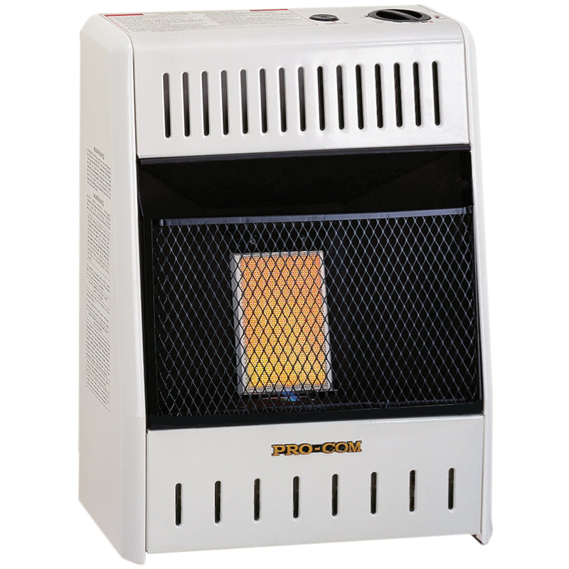 ProCom Natural Gas Ventless Plaque Heater - 6,000 BTU, Manual Control - Model