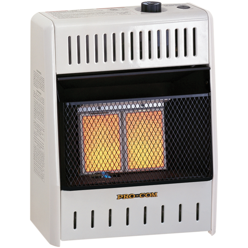 ProCom Liquid Propane Ventless Infrared Heater - 10,000 BTU, Manual Control - Model