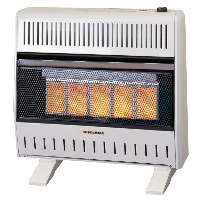 ProCom Dual Fuel Ventless Infrared Heater - 30,000 BTU, T-Stat Control - Model