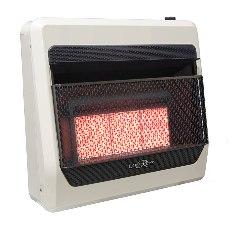 Lost River Dual Fuel Reconditioned Ventless Infrared Radiant Plaque Gas Space Heater - 30,000 BTU, T-Stat Control - Model