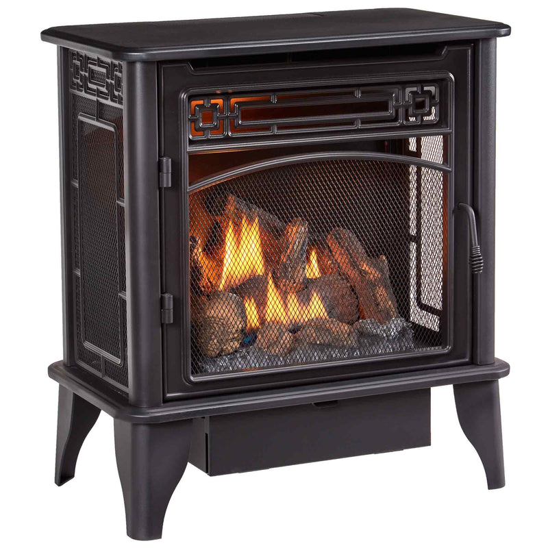 ProCom Dual Fuel Ventless Gas Stove 3-Sided - 23,000 BTU, T-Stat Control - Model