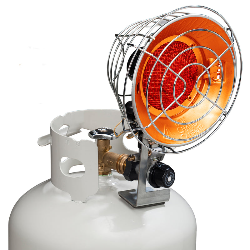 Avenger Infra-Red Tank Top Propane Heater - Single Burner, 15,000 BTU - Model