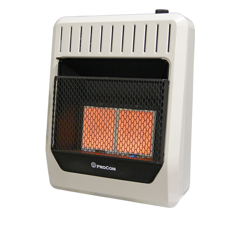 ProCom Reconditioned Dual Fuel Ventless Infrared Plaque Heater - 20,000 BTU, T-Stat Control - Model