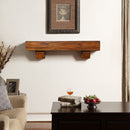 Duluth Forge 48in. Fireplace Shelf Mantel With Corbel Option Included - Brown Finish - Model