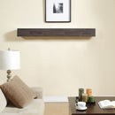 Duluth Forge 60in. Fireplace  Shelf Mantel With Corbel Option Included - Antique Grey Finish - Model
