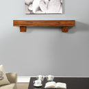 Duluth Forge 60in. Fireplace Shelf Mantel With Corbel Option Included - Brown Finish - Model