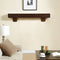 Duluth Forge 60in. Fireplace Shelf Mantel With Corbel Option Included - Chocolate Finish - Model# DFSM60-CH
