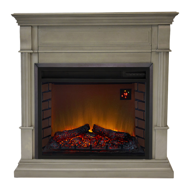 Duluth Forge Full Size Electric Fireplace - Remote Control, Gray Finish - Model