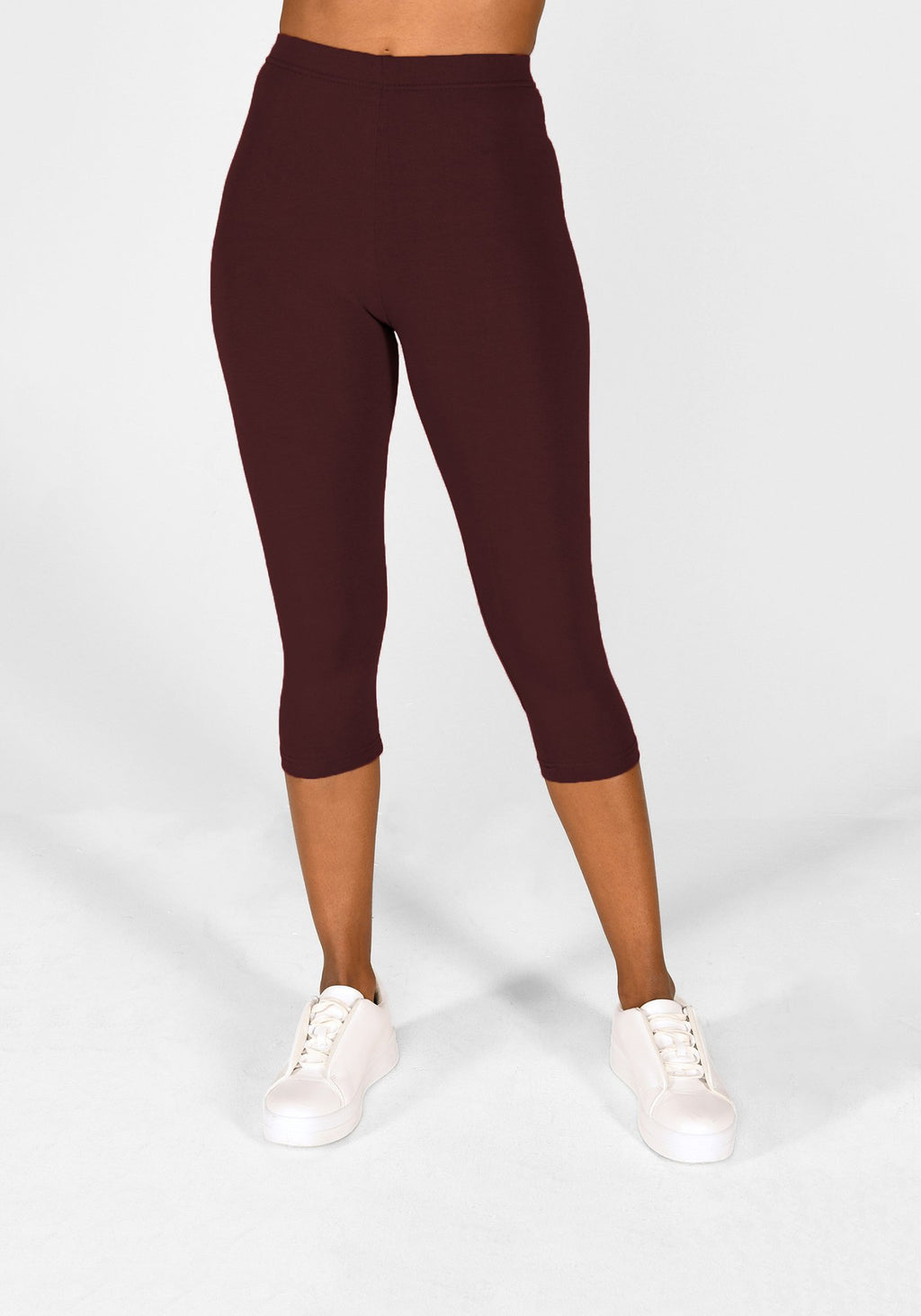 Burgundy Cropped Leggings