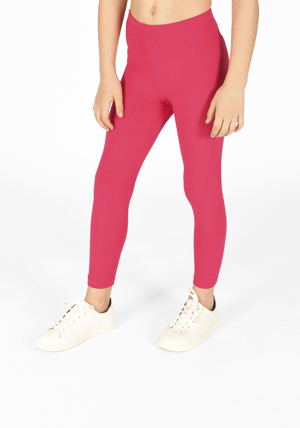 intense pink full length childrens leggings 1