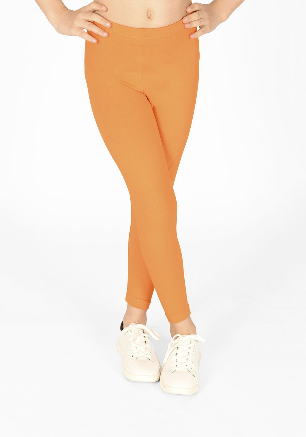 tiger orange full length childrens leggings 1
