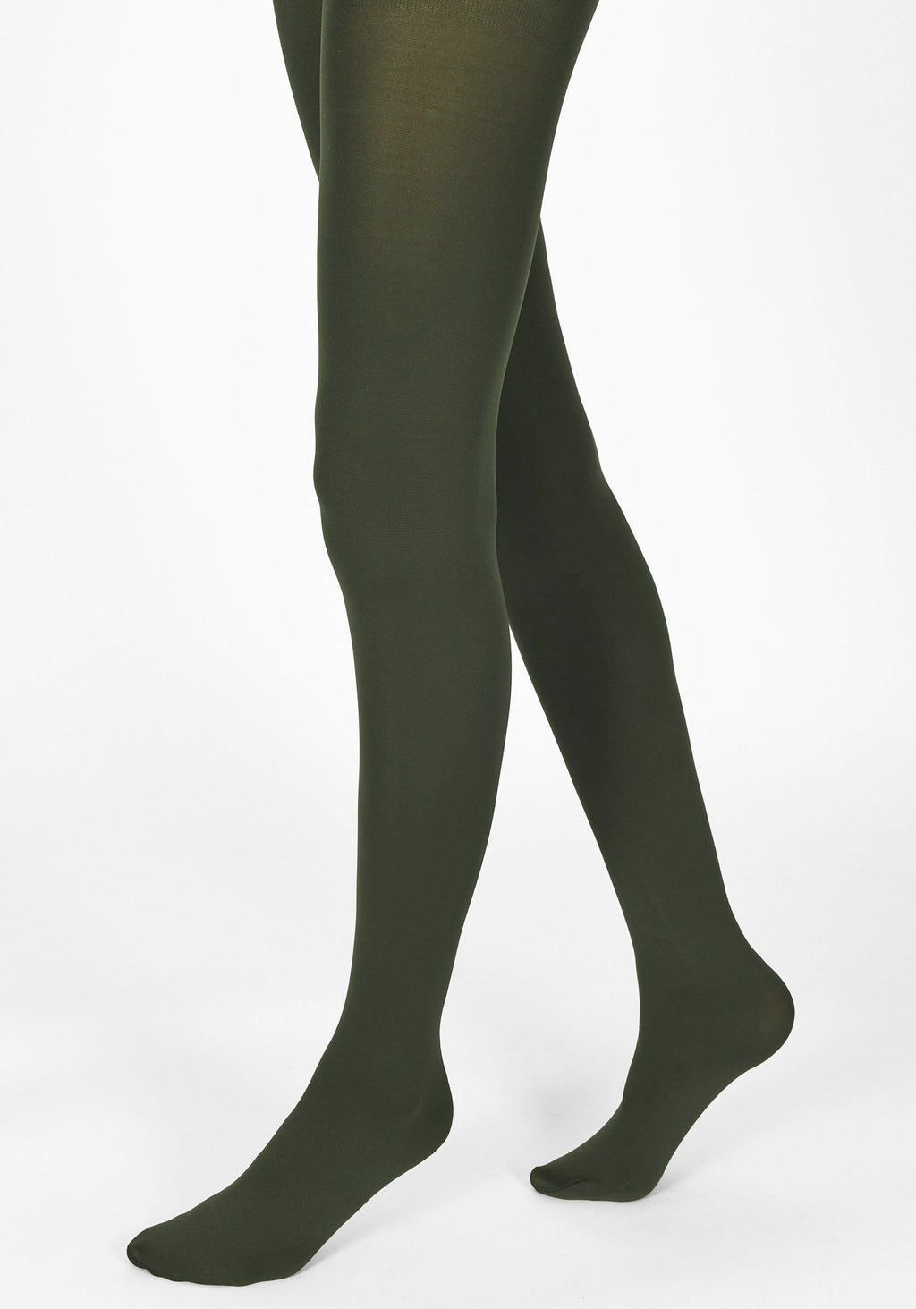 bottle green tights 100 denier 1