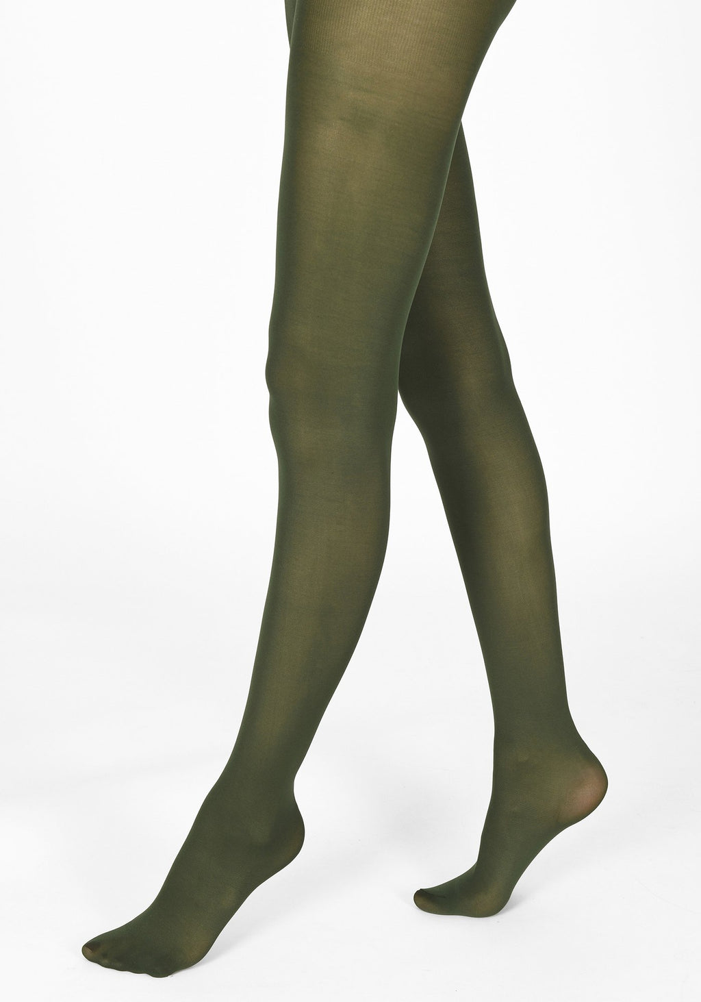 bottle green tights 40 denier 1