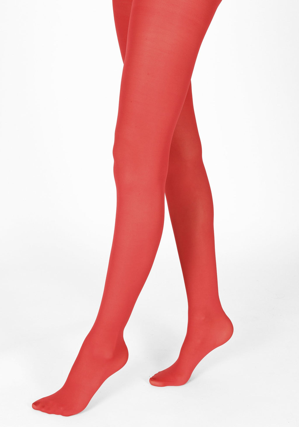 poppy red tights 40 denier 1