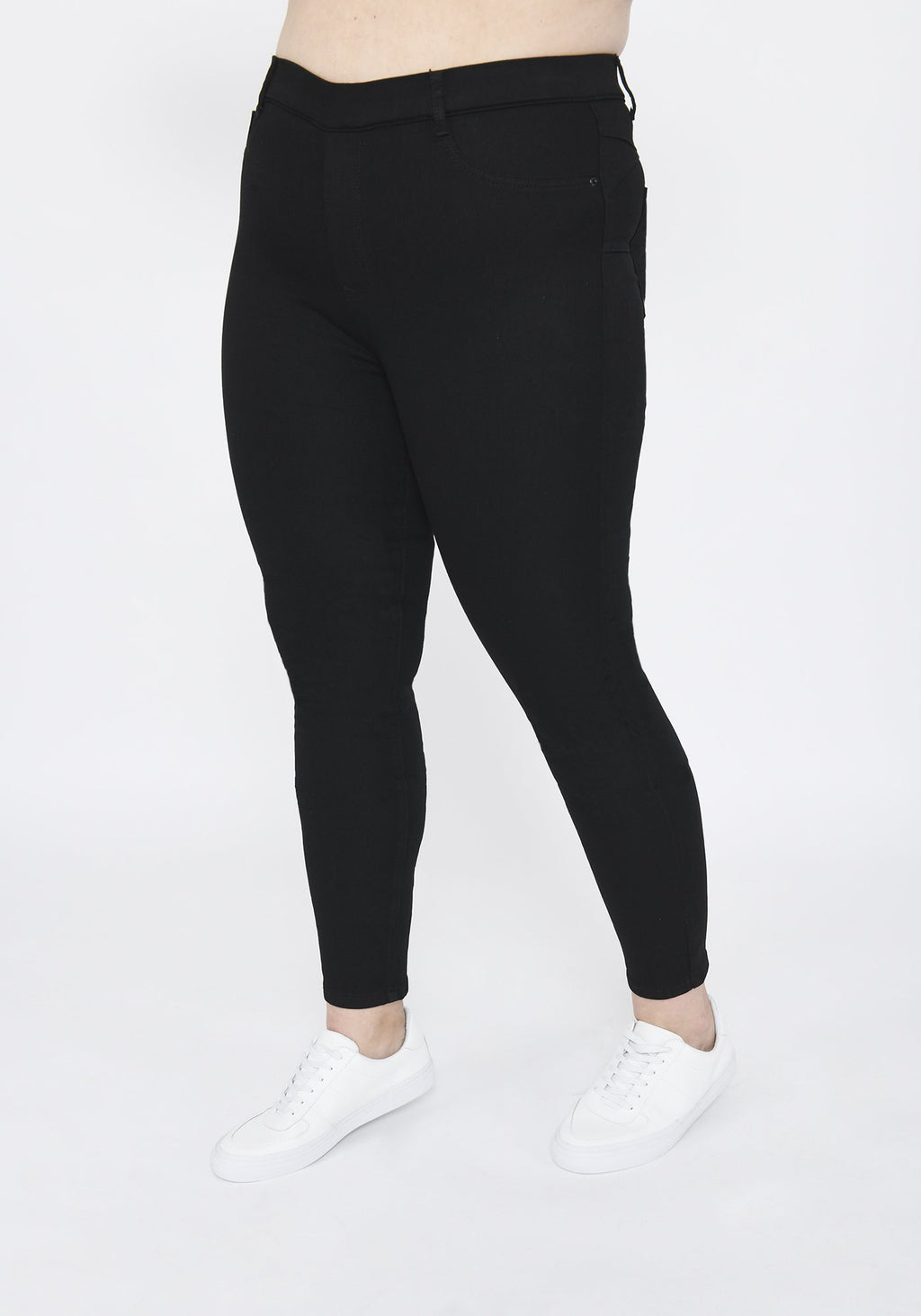 Plus Size Black Ankle Grazer Jeggings