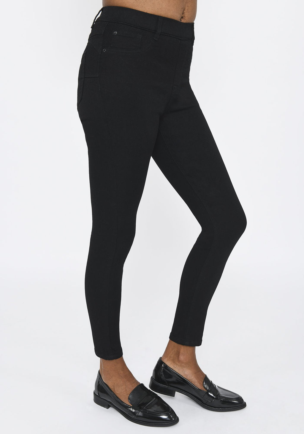 Black Ankle Grazer Jeggings